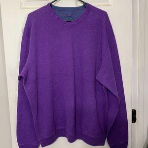TOMMY BAHAMA Men's XL Purple V- Neck Long Sleeve